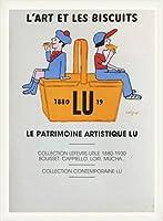 ポスター レイモン サビニャック Liart et les Biscuits 1980 額装品 ウッドベーシックフレーム(ホワイト)