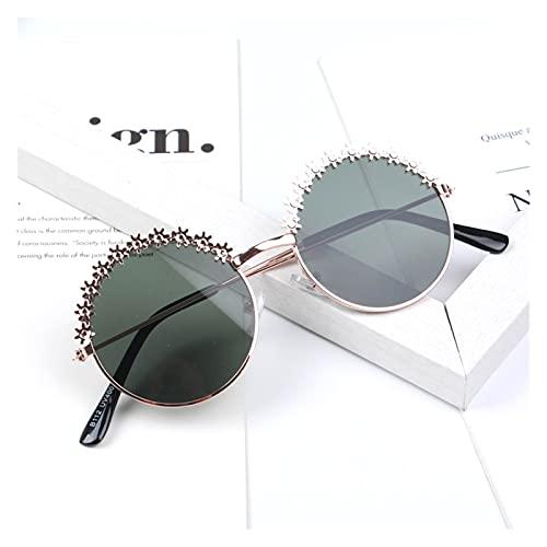 MINGQIMY Gafas de Sol Moda Niños Gafas de Sol Polarizado Marco de Metal Gafas de Sol Chicas Boys Flower Niños Espejo Eyewear Summer Beach (Objektiv-Farbe : 04 Silver G15)