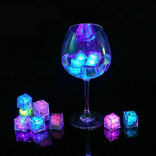 Portaghiaccio 3pcs LED luce di ghiaccio cubetti luminosi lampada notte lampada da festa barra della tazza di nozze decorazione della lampada notturna della lampada del partito della barra della tazza