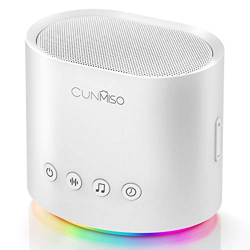 Cunmiso White Noise Machine with Colorful Night Light for Sleeping, 26 Hi-Fi Soothing Sounds with Timer & Memory Feature, Sound Machine for Baby, Kids, Adults, Portable Sleep Machine for Home, Office