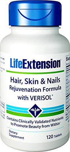 Hair, Skin & Nails Rejuvenation Formula with VERISOL® 120 (tablets) Life Extension