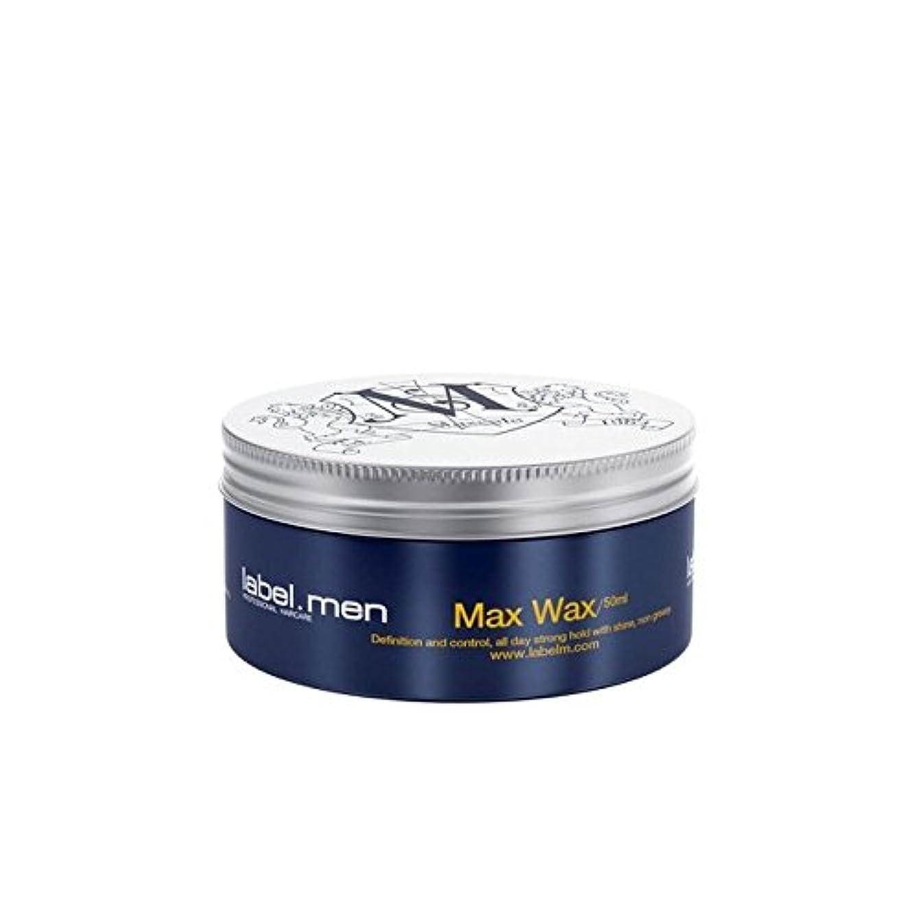 ジム硬い素子Label.Men Max Wax (50ml) (Pack of 6) - .マックスワックス(50ミリリットル) x6 [並行輸入品]
