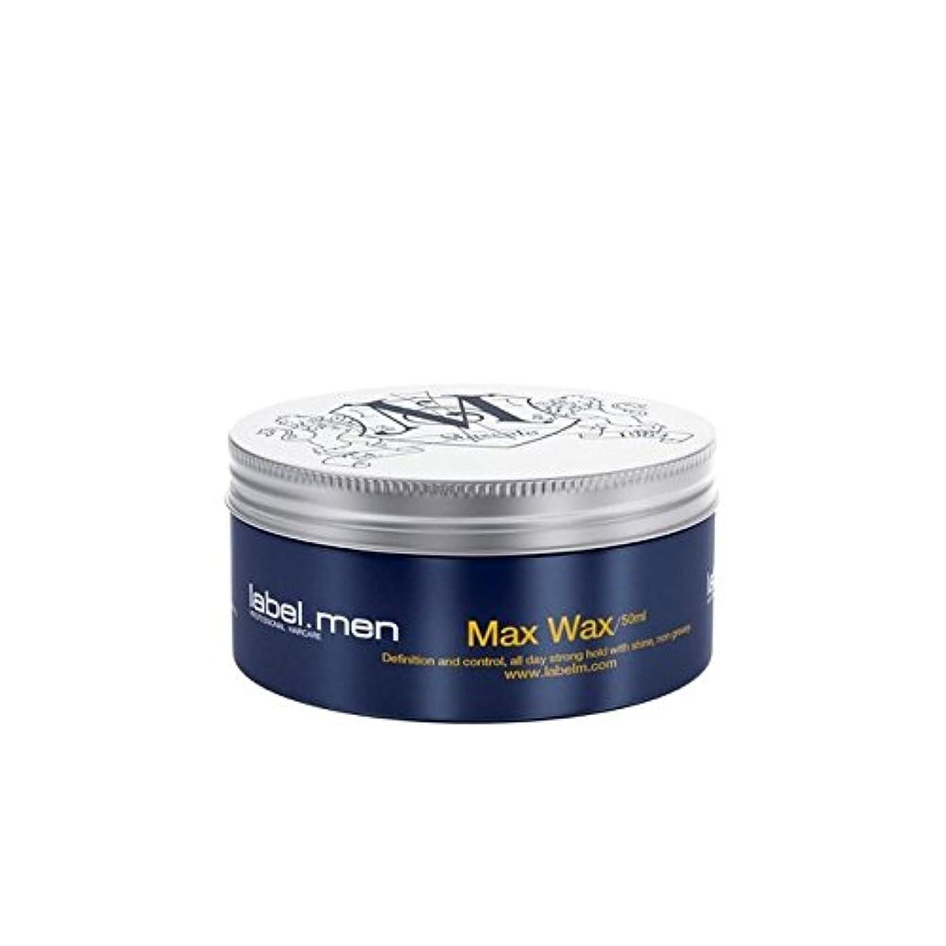 アラート去る仮説.マックスワックス(50ミリリットル) x4 - Label.Men Max Wax (50ml) (Pack of 4) [並行輸入品]