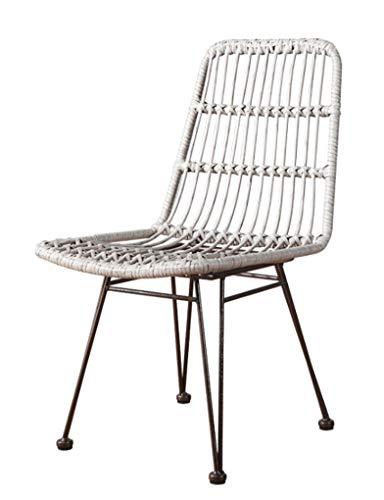 JKNMRL Dining Chair/Outdoor Table/Chair/Wicker Table/Chair/Leisure Balcony Wicker Chair/Resort B&B,Beige