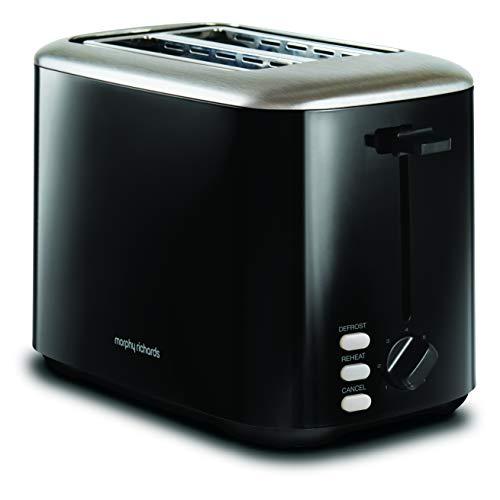 Morphy Richards 222064 Black Equip 2 Slice Stainless Steel Toaster, 800 W, Black