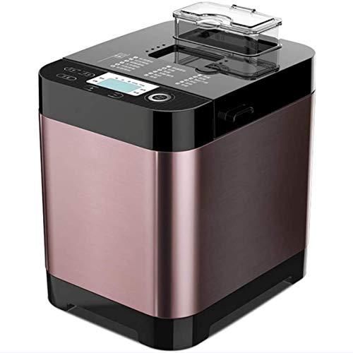 Automatische programmeerbare multifunctionele broodmachine met 18 programma's en automatische gistdispenser, fruitnoot glutenvrije instelling,Purple