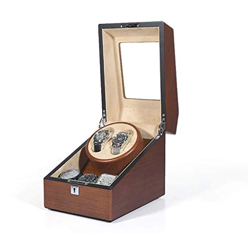 ZHANGYH Caja de reloj mecánica automática, 5 modos de rotación con motor silencioso, caja de visualización de almacenamiento de relojes (color: C)