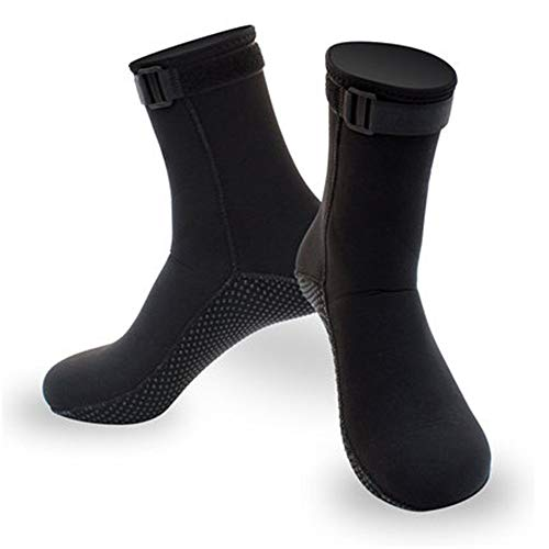MDYYD Diving Socks Thick Warm Non-Slip Coral 3MM Male and Female Adult Equipment Diving Socks Non-Slip Flexible Diving Socks (Color : Black, Size : S)