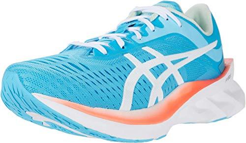 ASICS Women's NOVABLAST Running Shoes, 6.5, Aquarium/White