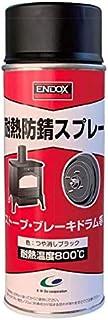 ENDOX 耐熱防錆スプレー つや消しブラック 400ml 防錆剤