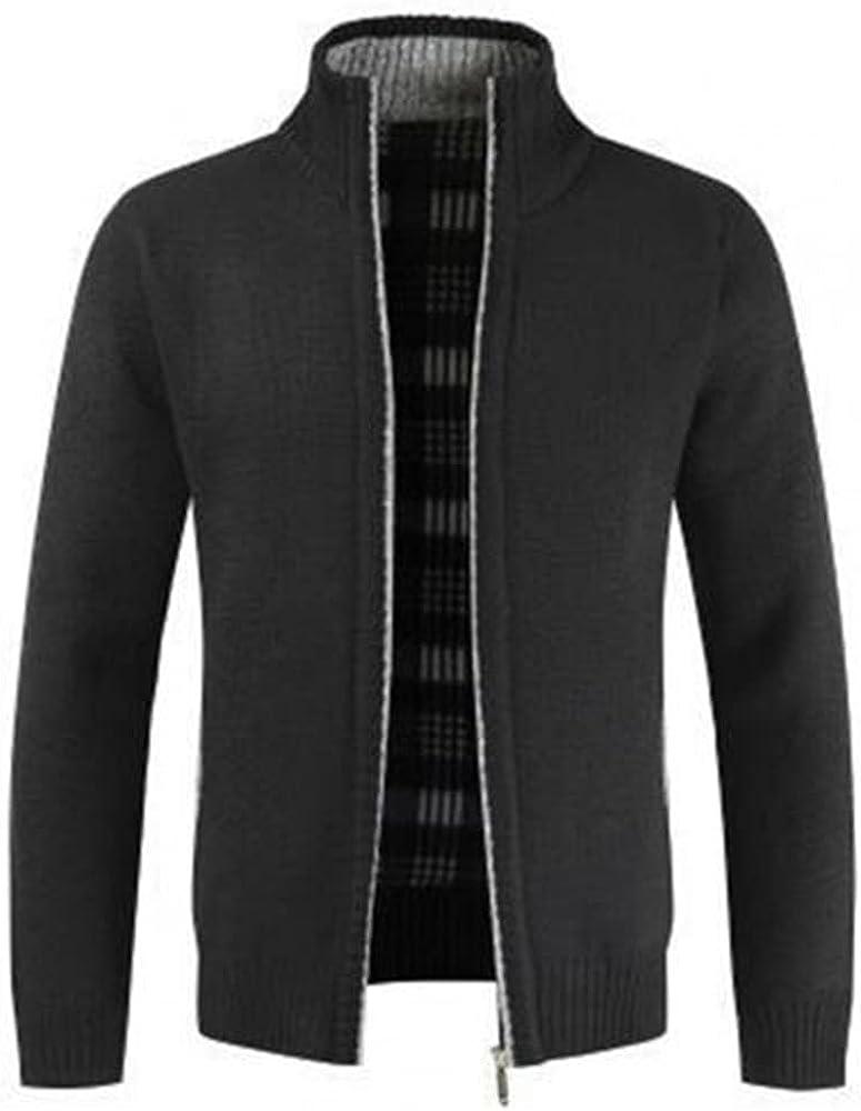 NP Autumn Winter Men Knitted Sweater Liner Slim Coat