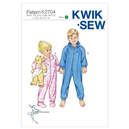 KWIK SEW Schnittmuster 2704 Schlafanzug Gr. 104-158