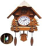 Orologio a cucù, grande orologio a cucù con movimento al quarzo, decorazioni in stile foresta nera