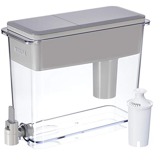 Brita Extra Large 18 Cup Filtered Water Dispenser with 1 Standard Filter, BPA Free - UltraMax, Gray