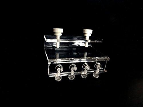 Soft Tube-Halterung Halter für Dosierpumpe Luftpumpe (4 Röhren) Acryl