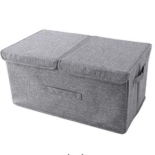 Box Kleidung Aufbewahrungsbox Aufbewahrungsbox Stoff Kleidung Aufbewahrungsbox mit Deckel 2 Stück Falten (Color : Gray)