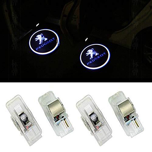 XIUJINGHONG Autotür Logo Einstiegsbeleuchtung Türbeleuchtung Einstiegsleuchte Projektion Licht 4 Stück
