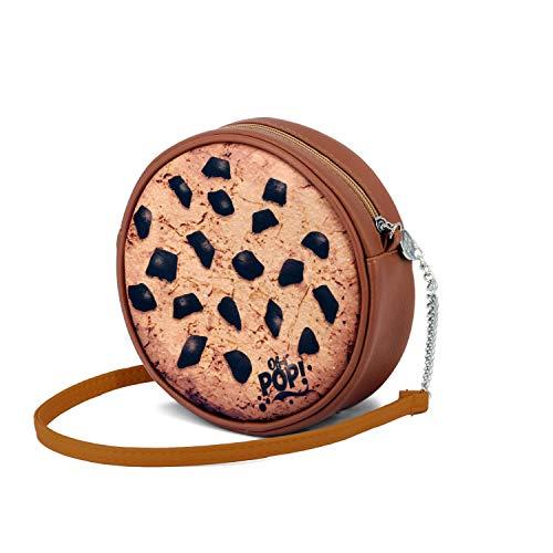 Oh My Pop! Cookies-Round Shoulder Bag Umhängetasche 18 centimeters Braun (Brown)