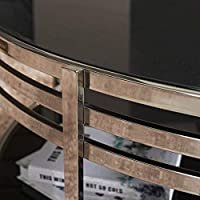 家具装飾家庭用サイドテーブル強化ガラス小さなコーヒーテーブル電話テーブルラウンドステンレス鋼家具ホテルベッドサイドテーブルリビングルームフラワースタンドBT