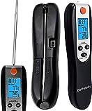 Bethesdy Sonda di termometro digitale da cucina, timer, luce flash LED, allarme e luce di fondo per marmellata, olio, latte, acqua e bevande calde