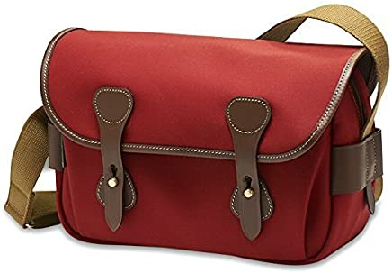 BillinghamS3 Shoulder Bag (Burgundy Canvas/Chocolate Leather)