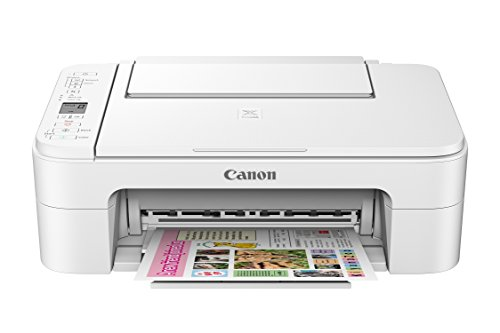 Canon TS3120 Wireless All-In-One Printer, White,21.8 x 17.2 x 8.4