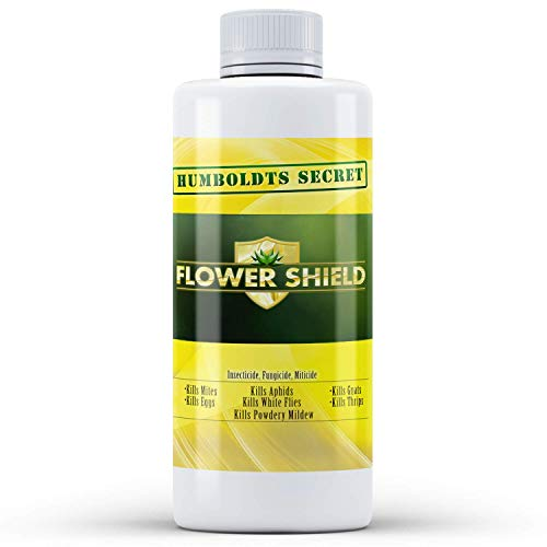 Humboldts Secret Flower Shield – Powerful Insecticide – Pesticide – Miticide – Fungicide – Bug Spray – Spider Spray – Plant and Flower Protection – Healthy Treatment for Pests and Fungus (8 Ounce)