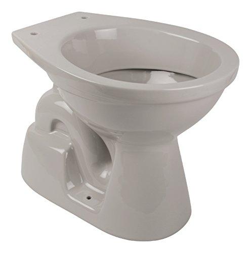 'aquaSu® Stand-WC | Tiefspüler | Abgang innen senkrecht | Manhattan | Grau | Toilette | Stand-WC | Klo |Keramik | Gäste-WC | Bad | Badezimmer