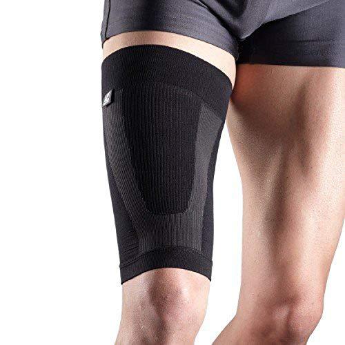 LP Support 271 Powersleeve Kompressions-Oberschenkelbandage - Sport-Bandage, Größe:L, Farbe:schwarz