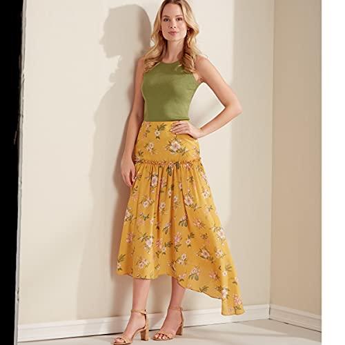 New Look Sewing Pattern N6676 Misses Skirts N6676-Cartamodello per gonne da donna, bianco, A (8-10-12-14-16-18-20)