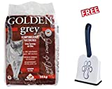 Golden Grey 14kg Very Fine Clumping Betonite Cat Litter with Scented Babypowder