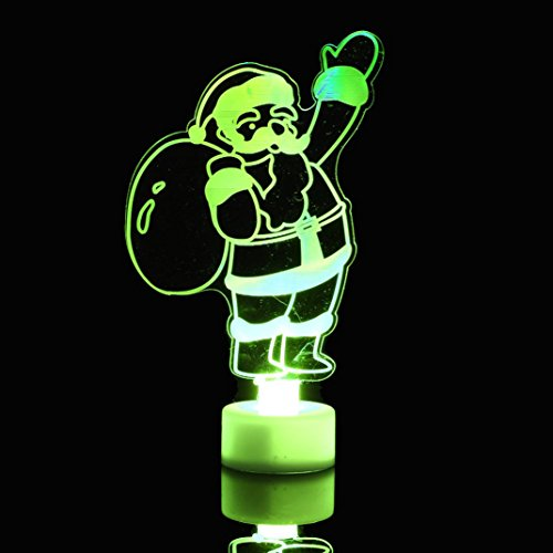 Hunpta Bonhomme de neige LED multicolore en acrylique transparent pour sapin de Noël (Blanc)