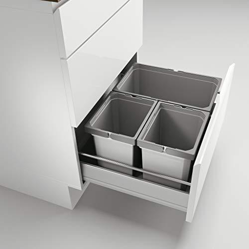 Naber Cox® Box 1T 600-3. Abfallsammler, hellgrau.