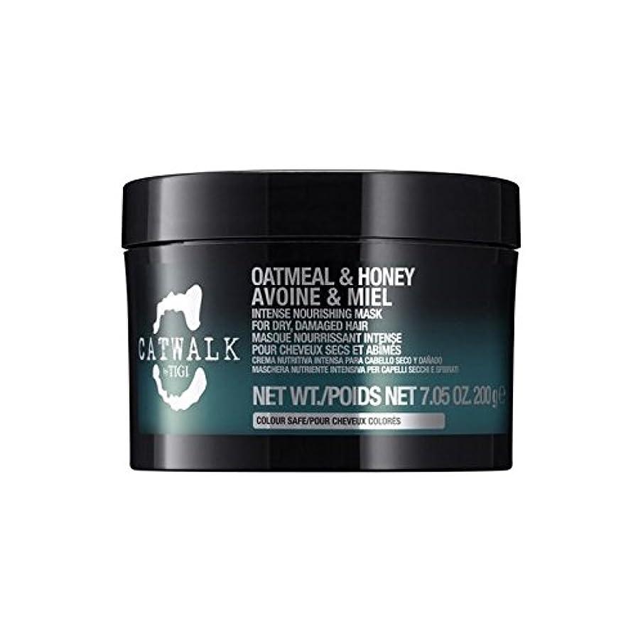 交差点急流若さティジーキャットウォークオートミール&ハニー強烈な栄養マスク(300ミリリットル) x4 - Tigi Catwalk Oatmeal & Honey Intense Nourishing Mask (300ml) (Pack of 4) [並行輸入品]