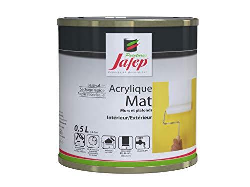 Jafep 24830331 - Vernice acrilica opaca, colore: bianco