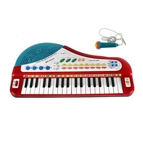 LSLS Micrófono Analógico De Música Pequeño Teclado De Piano Acordeón Juego Infantil Teclado De Piano De Juguete Y Micrófono Juguete de Teclado