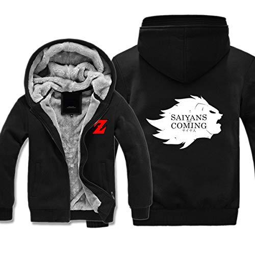 Preisvergleich Produktbild Mempire Herren Kapuzenpullover Sweatjacke mit Reißverschluss Super Saiyans Coming Gemustert Sweatshirt Plus Samt (C, 5XL)