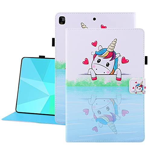 Uliking SlimShell Case for iPad 9.7 2018 2017 / iPad Air 2 / iPad Air - Lightweight Standing Cover Kids with Pen Holder & Auto Wake/Sleep for iPad 6th / 5th Gen, iPad Air 1/2, Pro 9.7, Love Unicorn