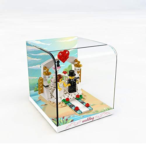 Nlne Acrílico Vitrina para Lego Recuerdo De Boda, Transparente Display Case Compatible con Lego 40197 (Modelo De Lego No Incluido)