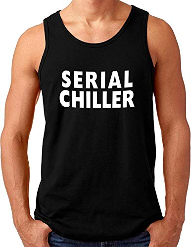 OM3® Serial Chiller Tank Top Shirt | Herren | Saying Quote Slogan | Schwarz, M