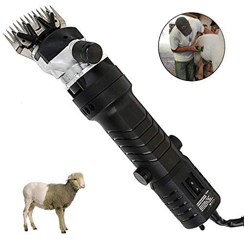 GTTBS-jd 320 W Professionelle Hochleistungs-Elektroschermaschine Mit 6 Geschwindigkeiten Zum Rasieren Von Fellwolle Bei Schafen, Ziegen, Rindern und Anderen Nutztieren (13 Gerade Zähne)