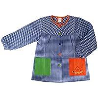 Kiz Kiz Bata Escolar Infantil Multicolor Baby Infantil de Cuadros (1, Azul)