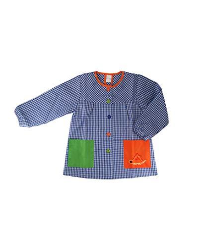 Kiz Kiz Bata Escolar Infantil Multicolor Baby Infantil de Cuadros - (2 años, Azul)