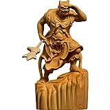 LISAQ Escultura Dos Feroces Gigantes Guardianes Estatua De Buda Decoración Shunfeng'er Qianliyan Decoración del Hogar (Paquete De 2)
