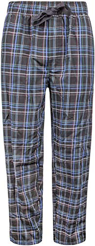 Van Heusen Lux Touch Woven Pajama Pants | Relaxed fit Pajama Pant| 65% Polyester, 35% Rayon (Black, XX-Large)