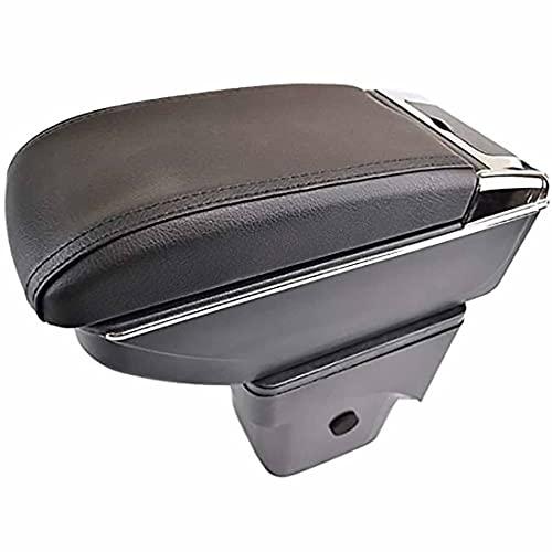 Caja Apoyabrazos Control Central Cuero Doble Capa Para Coche Para Focus 2 2005-2011 MK2, Con Portavasos, Cenicero Y Puertos USB, Accesorios Modelado DecoracióN Interior