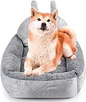 JPSSYXLCC ペットベッド屋内犬猫ふわふわマットノンスリップナイトバッグペット犬猫暖かい猫ベッド屋内ペットソファ犬-L_グレー