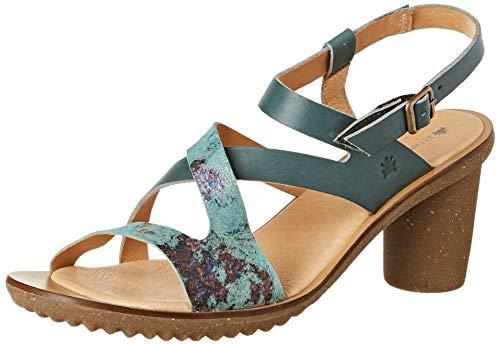 El Naturalista N5157 Vaquetilla-Fantasy Plome/Trivia, Zapatos de tacón con Punta Abierta para Mujer
