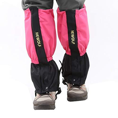 MioYOOW - 1 paio di ghette da neve per gambe, impermeabili, per stivali da neve, per trekking, snowboard