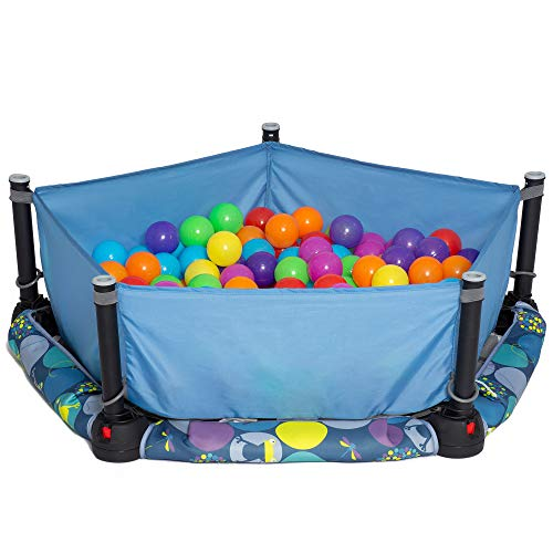 Best Deals! Eezy Peezy 3 in 1 Folding Ball Pit & Bouncer - Ball Pit Tent & Trampoline with Handle - ...